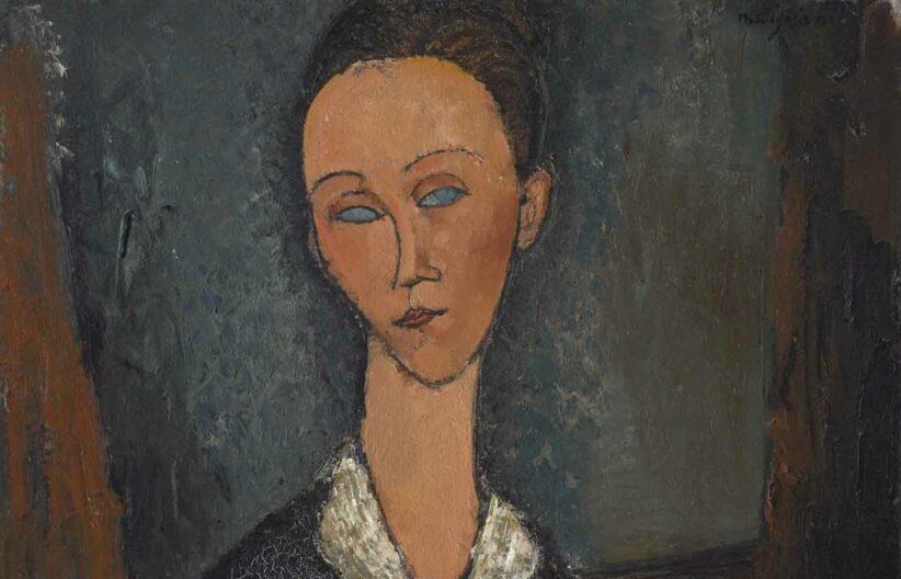 Amedeo Modigliani, Femme au col blanc, 1917, olio su tela (particolare)