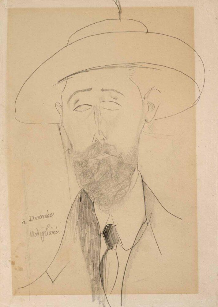 Amedeo Modigliani, Portrait de Paul Dermée, circa 1918-1920, matita su carta