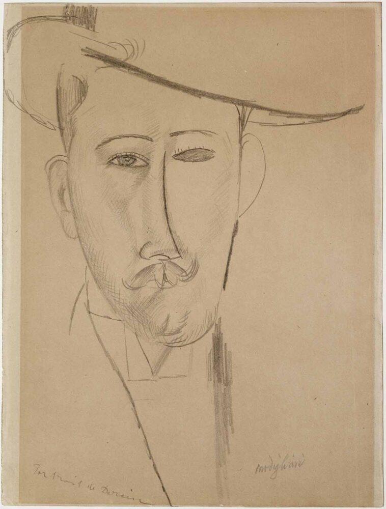 Amedeo Modigliani, Portrait d'homme, circa 1915, matita su carta