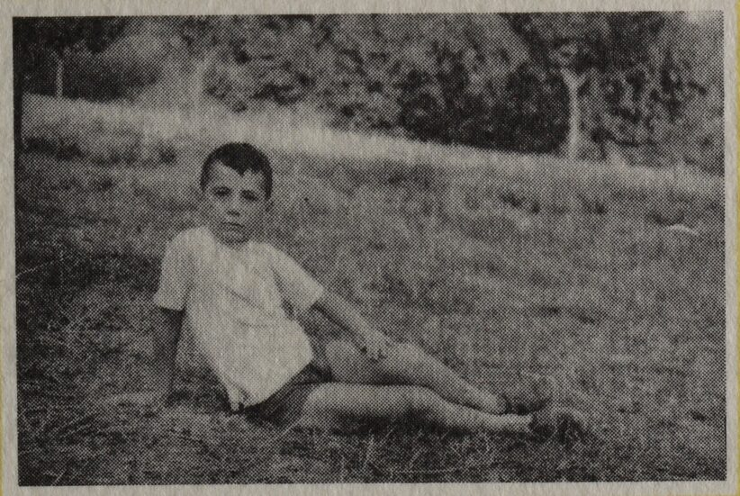 Bruno Ceccobelli bambino, Pontenaia, 1957