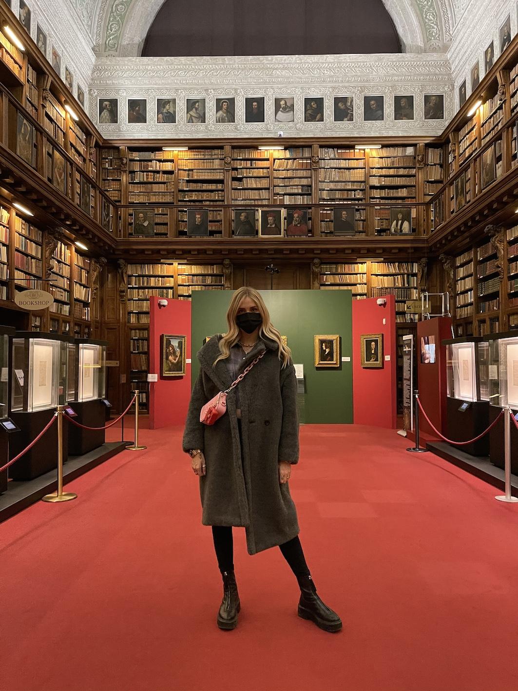 Chiara Ferragni all'Ambrosiana