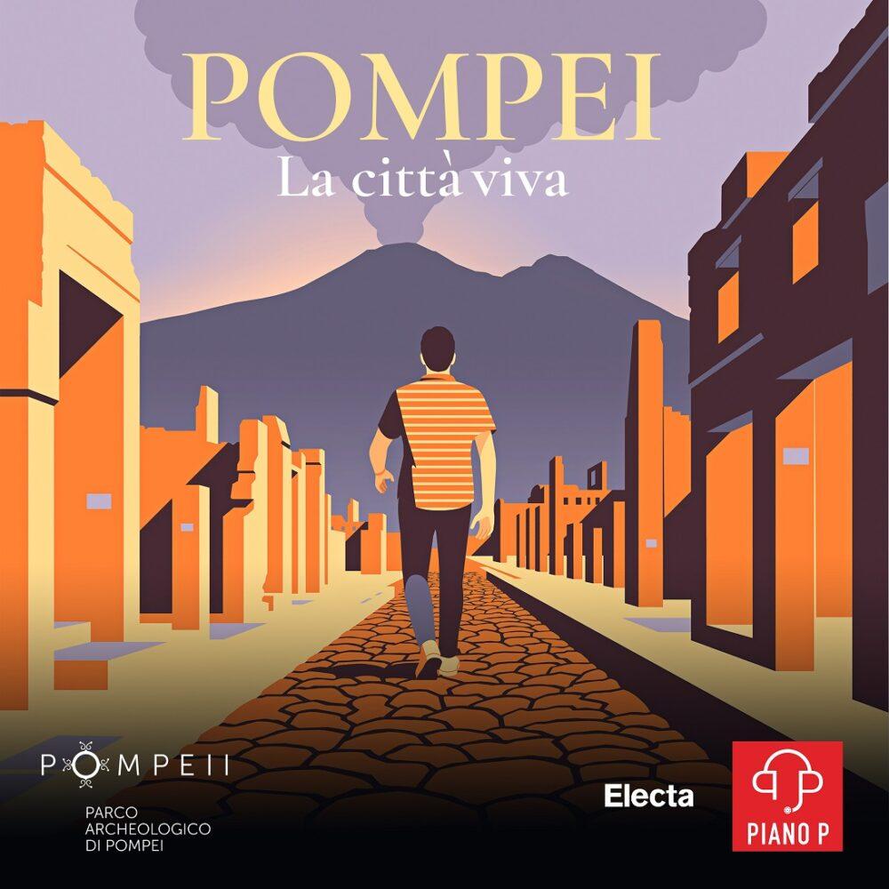 Cover di Pompei. La città viva. Illustrazione di Joey Guidone