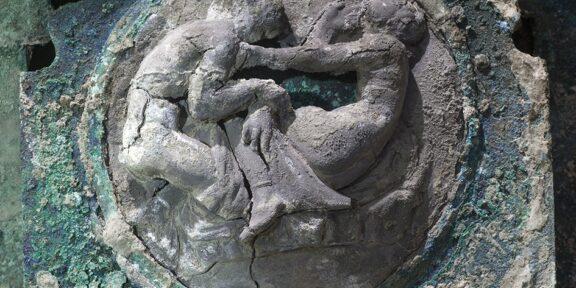 Decorazioni del carro da parata ritrovato a Pompei (®luigispina)