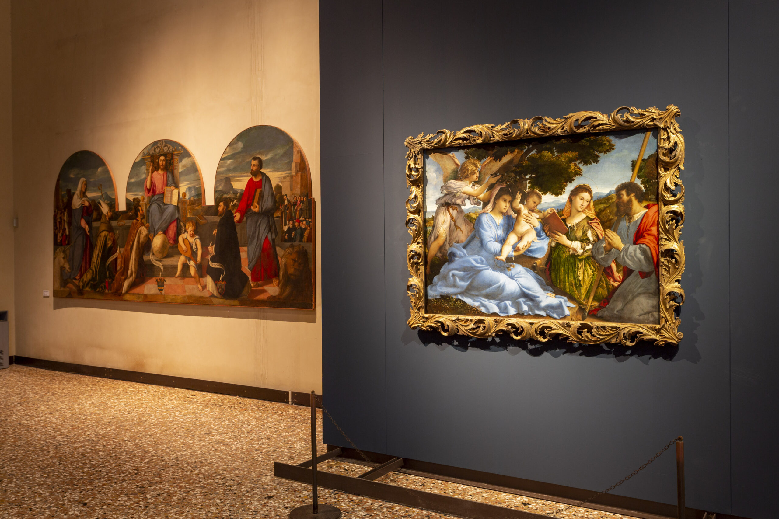 Il capolavoro di Lorenzo Lotto ancora eccezionalmente visibile alle Gallerie dell'Accademia di Venezia, immagini