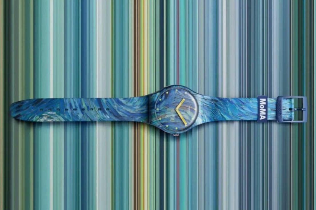 Una notte stellata al polso. In arrivo sei nuovi orologi MoMA by Swatch
