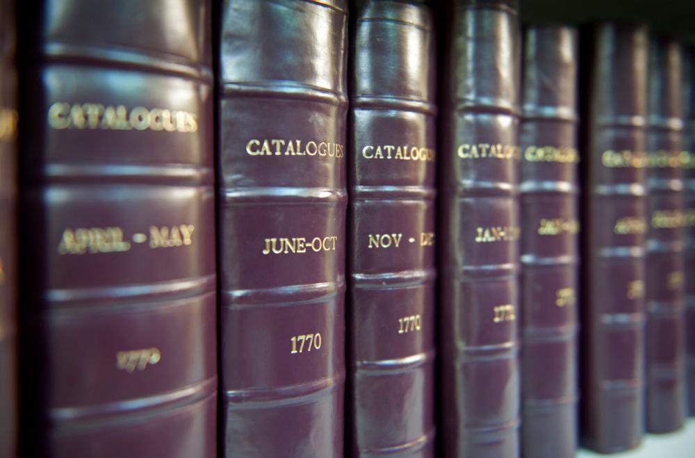 La raccolta di cataloghi di Christie's risalenti al 1766