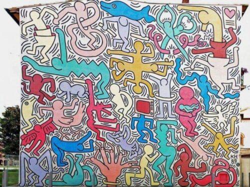 Keith Haring, Tuttomondo (1989),Pisa