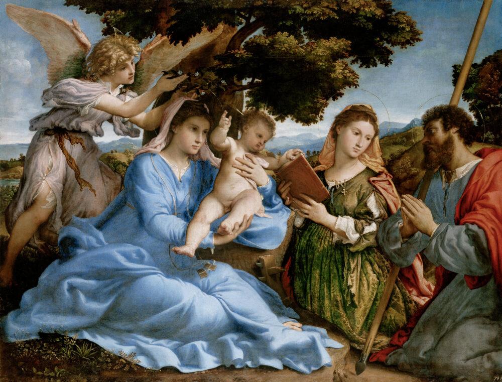 Lorenzo Lotto (Venezia circa 1480-Loreto circa 1556) SacraConversazionecon i santi Caterina e Tommaso, 1526-28 Credit Vienna, Kunsthistorisches Museum, Gemäldegalerie, inv. GG 101
