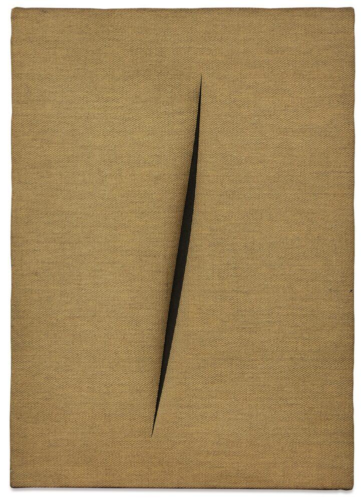 Lot 11, Lucio Fontana, Concetto Spaziale, Attesa, 1963. Dedicated A Jeanne-Claude