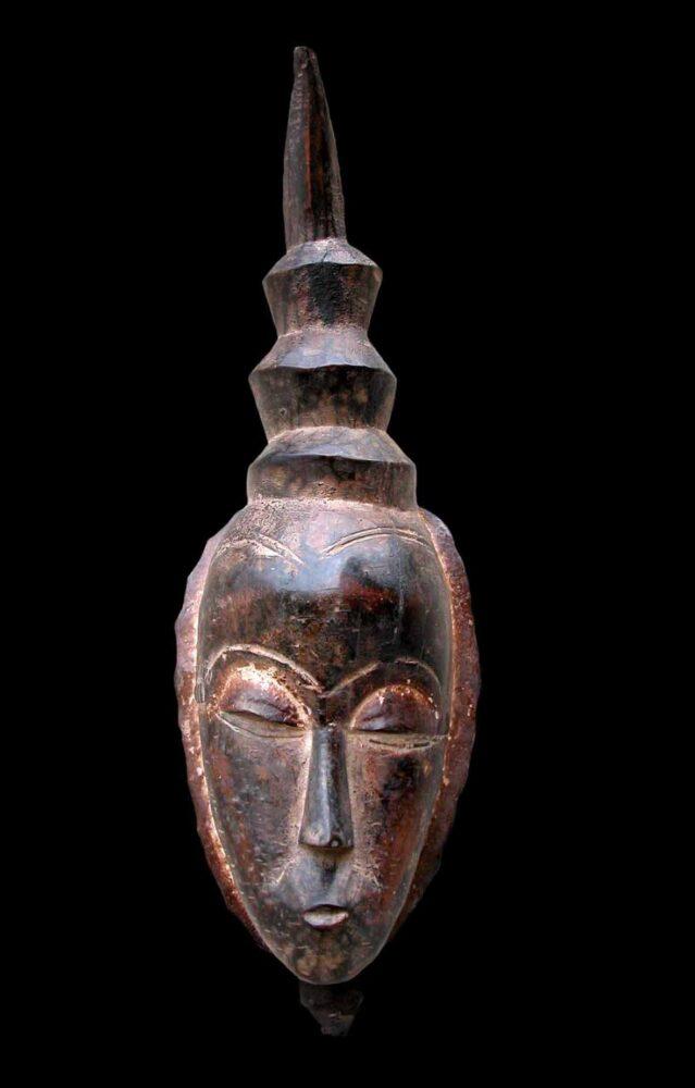 Maschera africana Gouro, Costa d'Avorio. Collezione privata Marcello Lattari