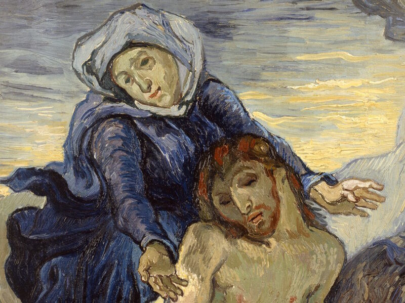 Pietà, Vincent Van Gogh, particolare