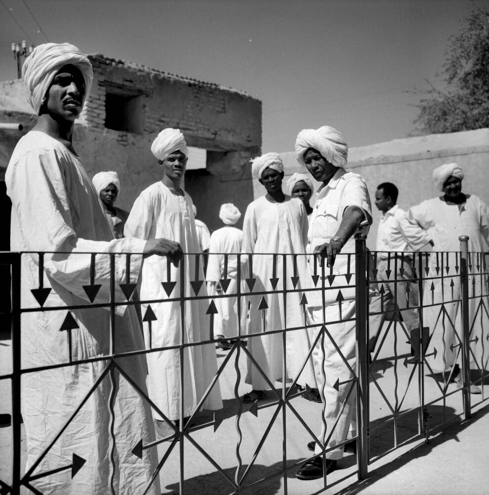 Omdurman (Soudan). Balcon de la maison du khalife. Janvier 1966. © Hélène Roger-Viollet / Roger-Viollet