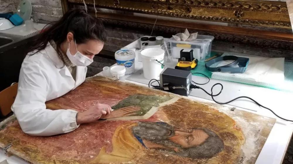 Restauro sui dipinti della chiesa di Santa Maria Assunta a Torcello