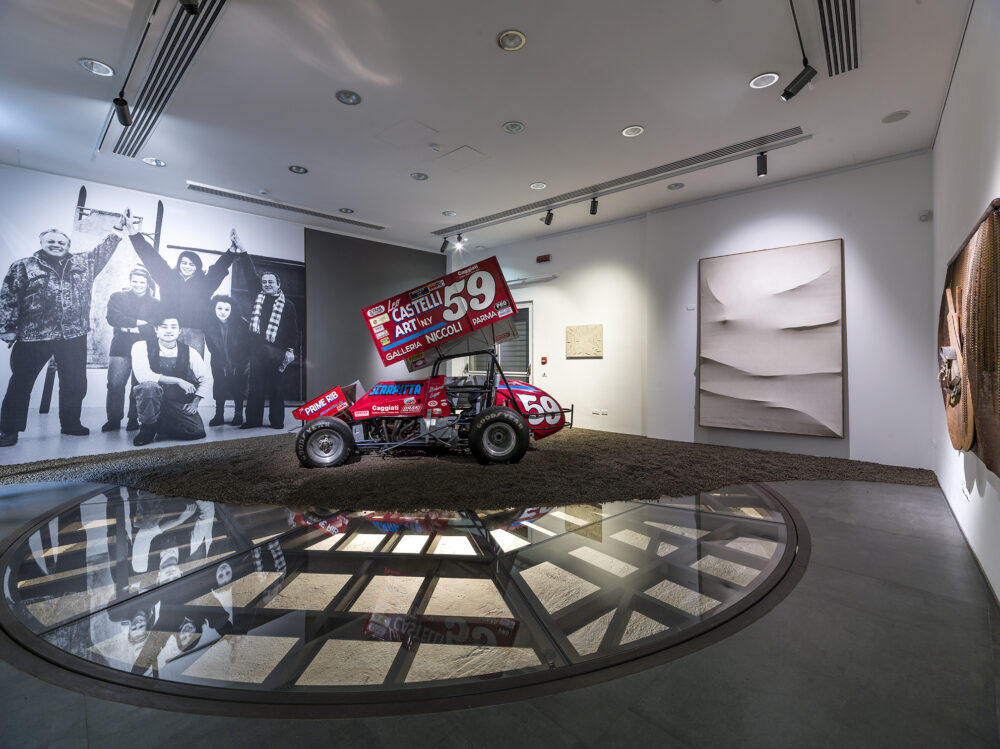 Salvatore Scarpitta, Racing Car_1990 - Salvatore Scarpitta, Senza titolo (Croce di Sant'Andrea)_1959 - Salvatore Scarpitta, Dimensione_1958