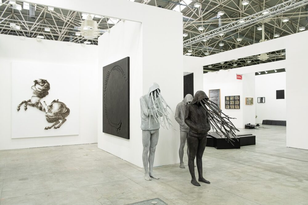 Stand galleria Davide Paludetto ad ArteFiera 2020