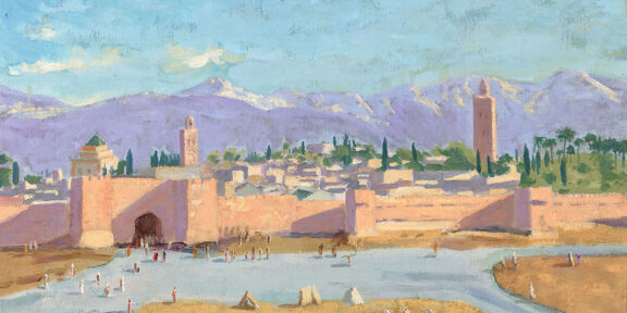 Winston Churchill, The Tower of Katoubia Mosque