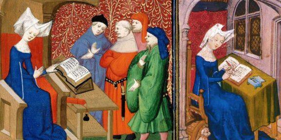 Christine De Pizan in una miniatura medievale