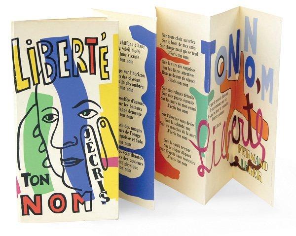 L'illustrazione di Fernand Léger per la poesia Liberté di Paul Eluard