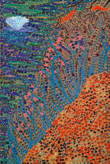 Matthew Wong Lotus Estimate: $400,000-600,000 © 2021 Monita K.Y. Cheng / Artists Rights Society (ARS), New York