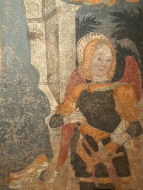 Dettaglio de 'Madonna con Bambino e Angeli'