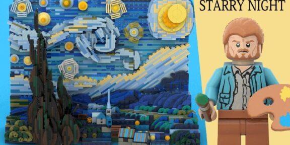 La Notte Stellata di van Gogh a lego