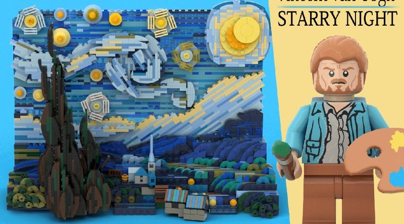 La Notte Stellata di van Gogh diventa un meraviglioso paesaggio di Lego