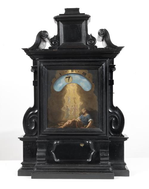 Giuseppe Campani, Orologio notturno e Francesco Trevisani, Sogno di Giacobbe, 1687, coll. privata
