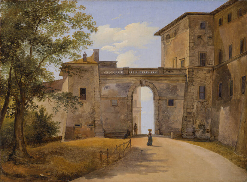 L'opera di Giovanni Battista CamucciniAriccia. La Porta Napoletana con Palazzo Chigi,