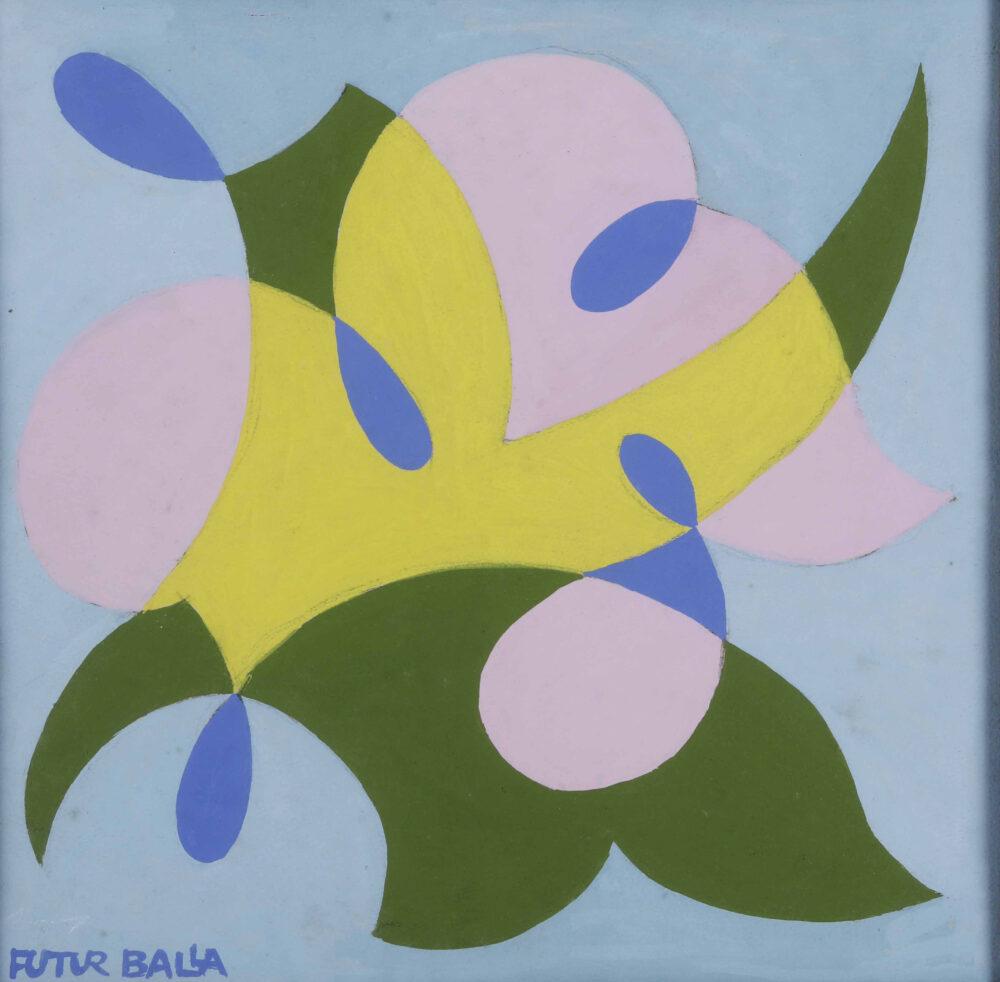 Giacomo Balla (1871 - 1958) Balfiore - motivo per mattonella tempera cm. 24x24 firmato in basso a sinistra Inventario Balla n. 956 Stima 16.000 – 18.000 euro