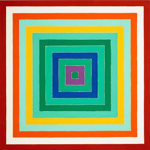 Frank Stella, Scramble, Ascending Spectrum / Ascending Green Values (1977). Stimato £ 2,5 milioni - £ 3,5 milioni ($ 3 milioni - $ 4 milioni)