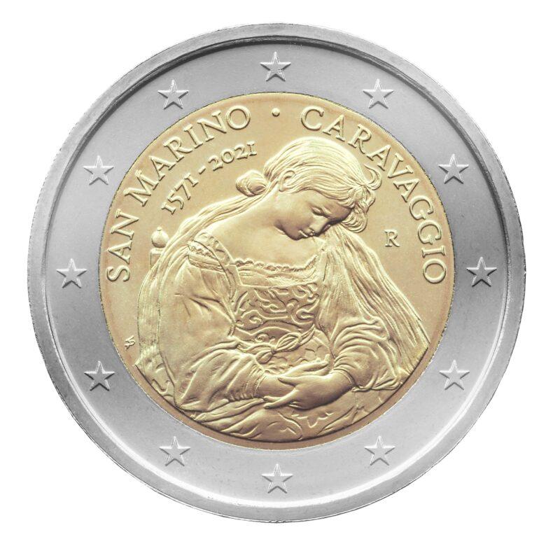 """La Maddalena pentita"" da 2 euro sammarinesi."