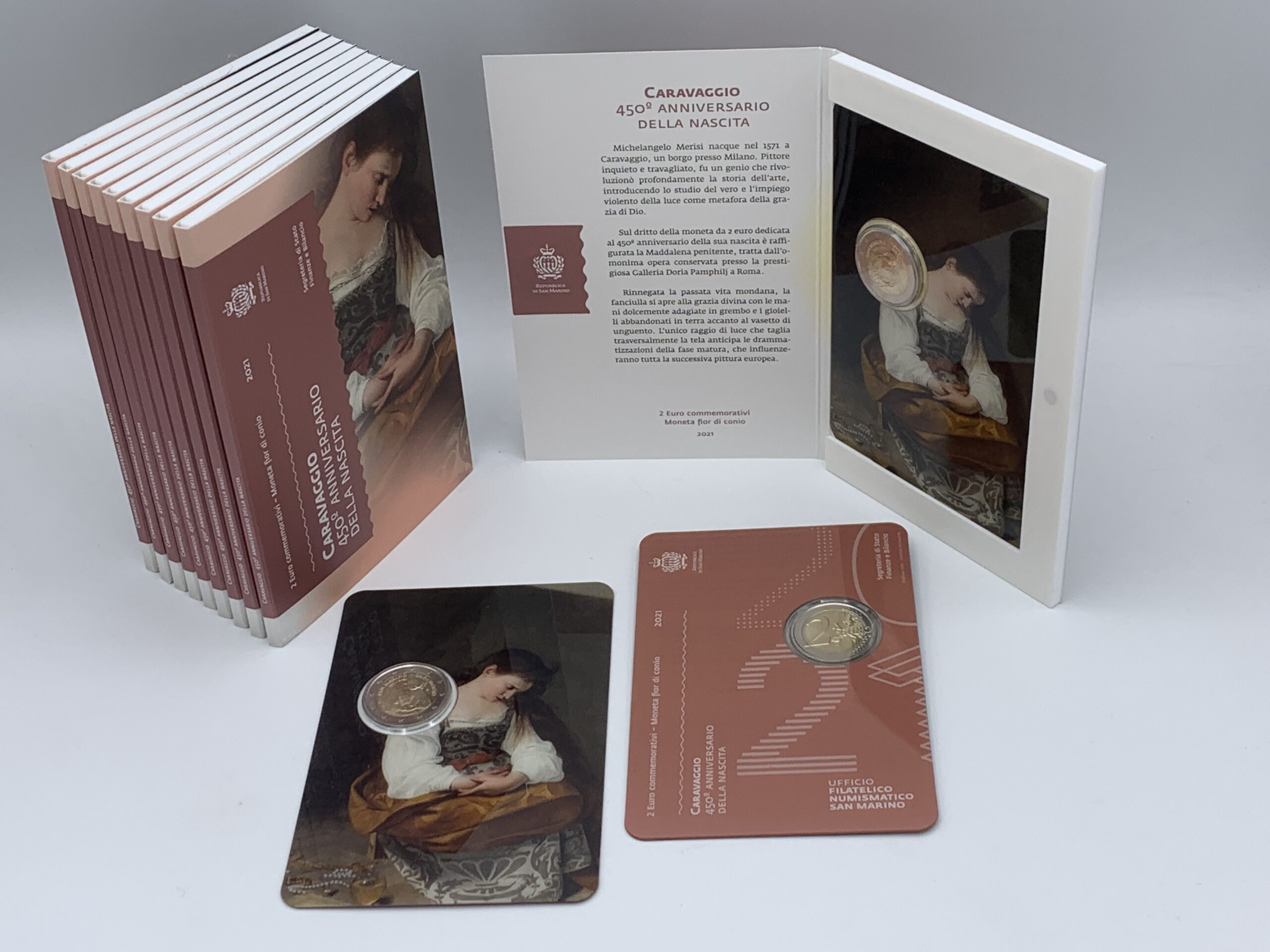 Italia, San marino e Vaticano: i tributi monetato a Caravaggio