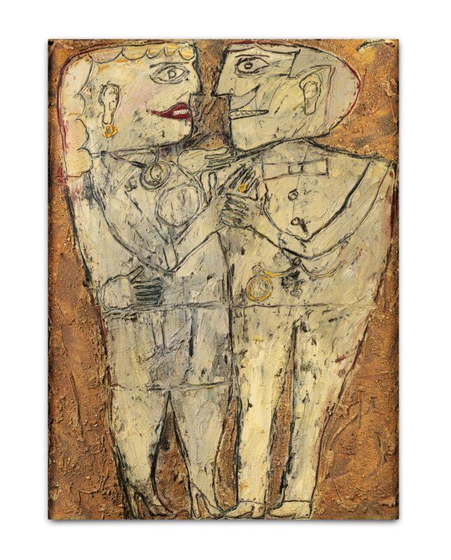 Jean Dubuffet, La cavalière au diamant (The Dancing Partner with Diamonds). Estimate: 2,500,000 - 3,500,000 GBP