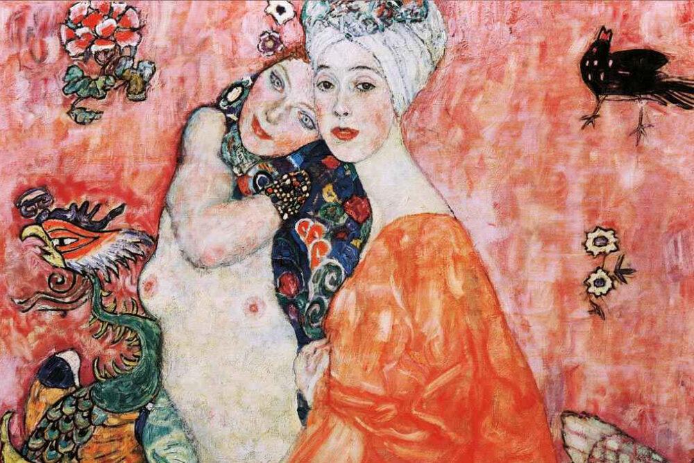 Amiche, Gustav Klimt (1916), particolare