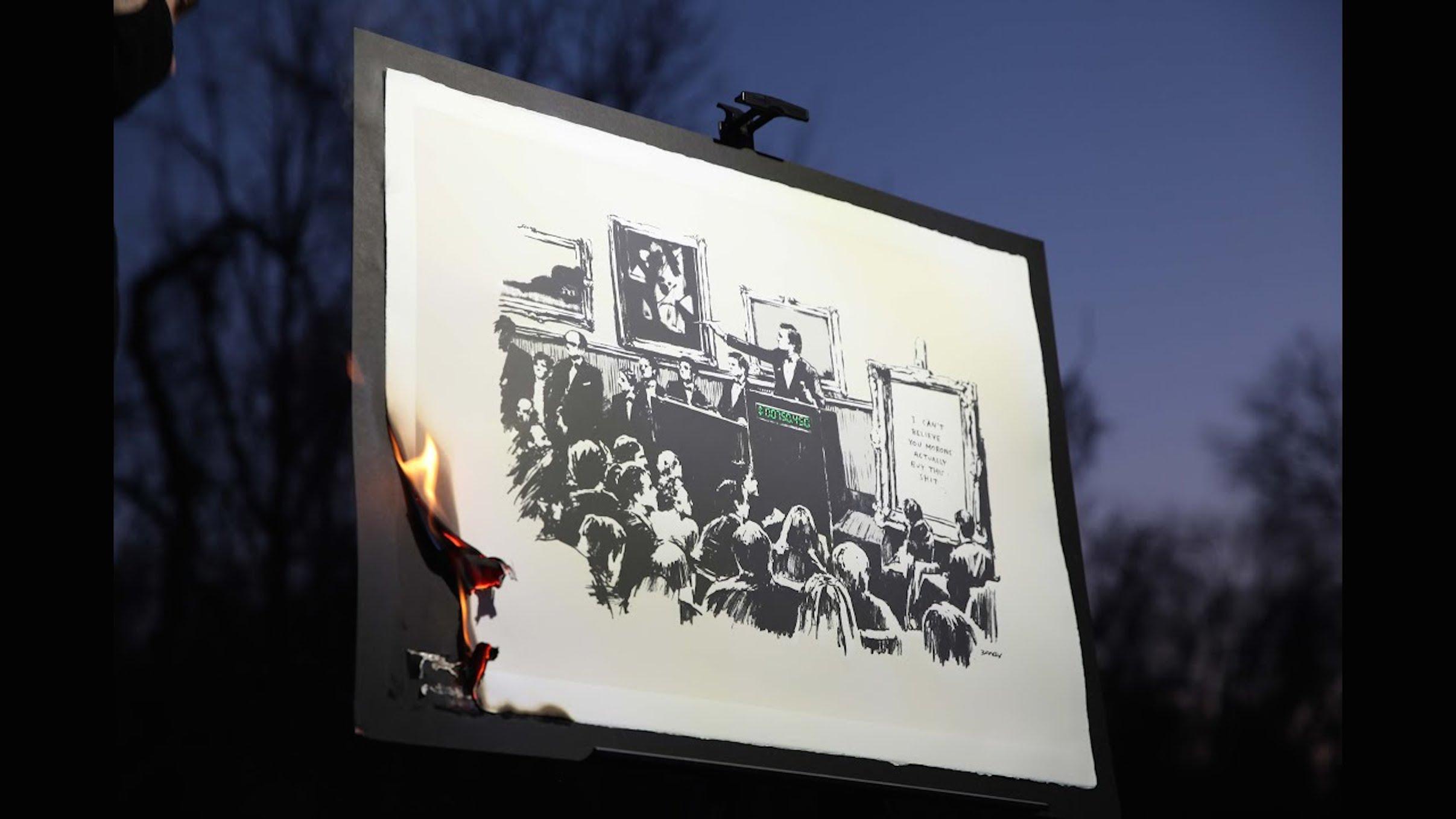 Banksy, il martire della teologia digitale contemporanea