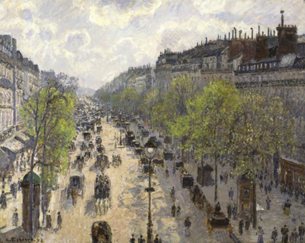 Camille Pissarro, Boulevard Montmartre, Primavera, 1897