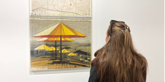 Umbrellas - 1990 Tecnica mista in teca di plexiglass Mixed media in plexiglass box 67 x 78 + 31 x 78 cm Courtesy Collezione M.P. Ghisla