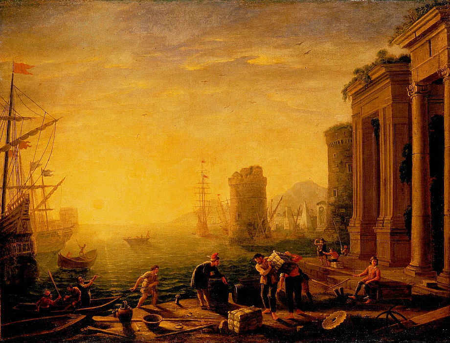 Claude Lorrain - Morning in the Harbour