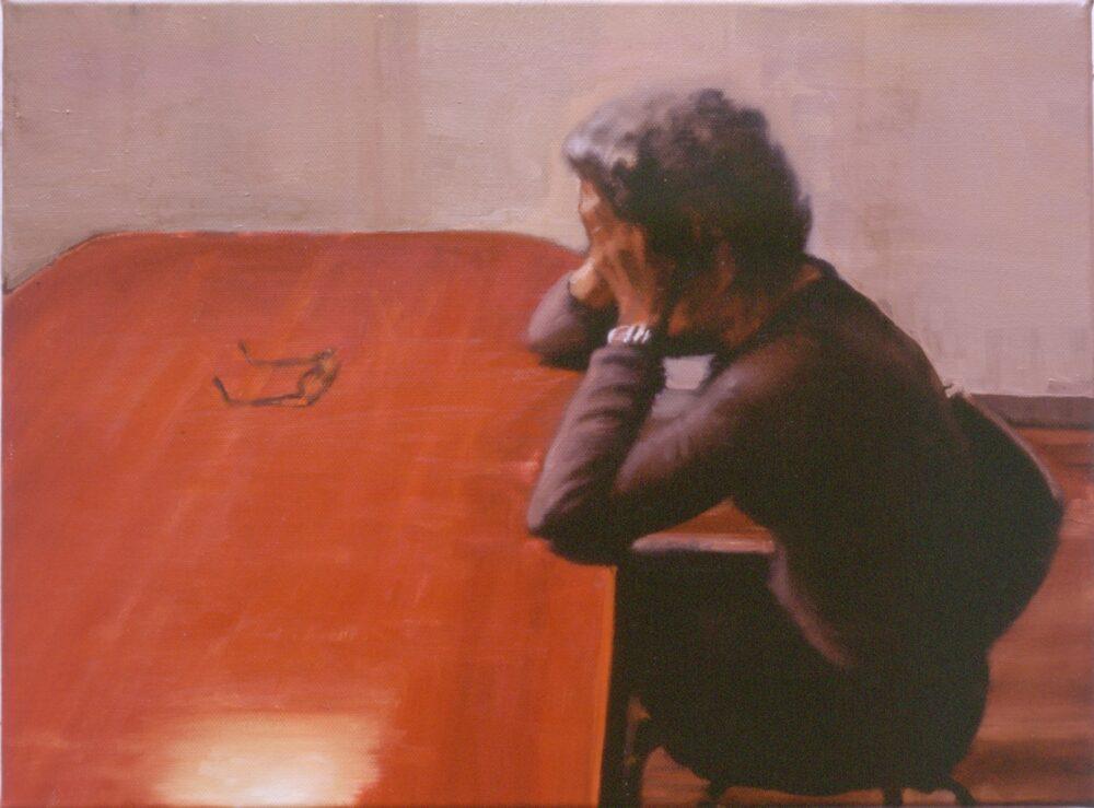 Daniele Galliano, Mama, 2002, olio su tela, cm 30 x 40
