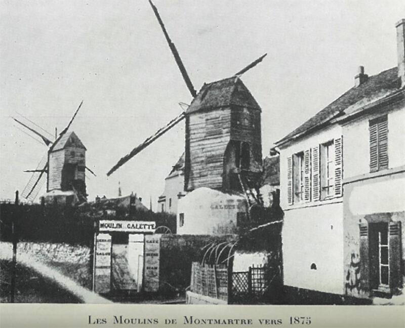 Entrata principale del Moulin de la Galette, fine del XIX secolo