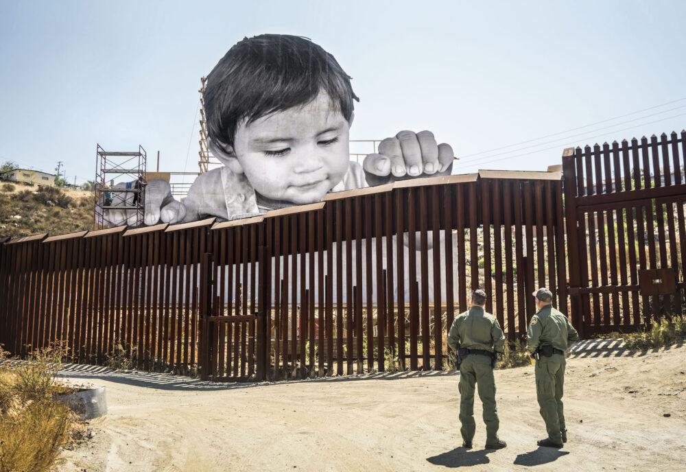 GIANTS, Kikito and the Border Patrol, Tecate, Mexico - U.S.A., 2017