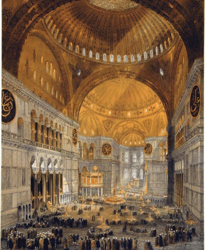 Gaspare Fossati, Louis Haghe, Interno di Santa Sofia, 1852