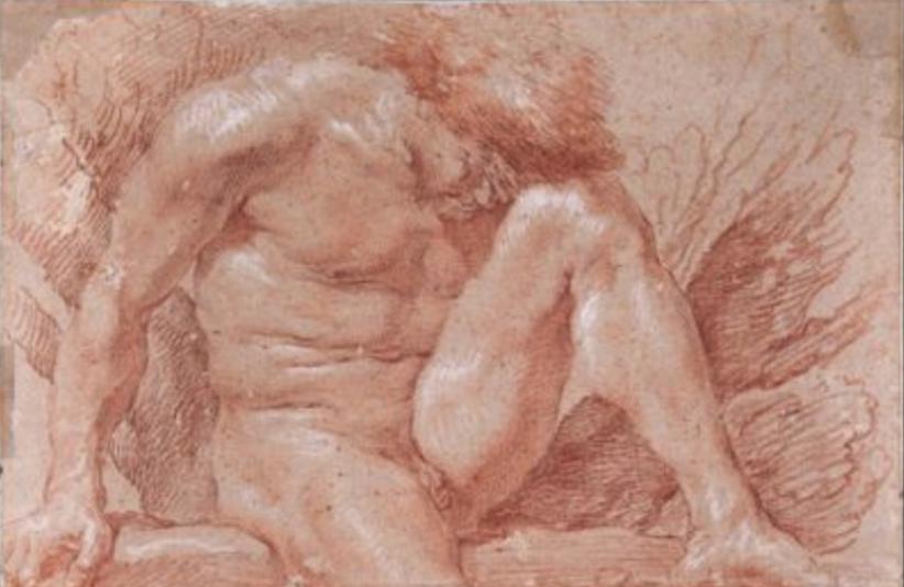 Gian Lorenzo Bernini, Académie d'homme (particolare)