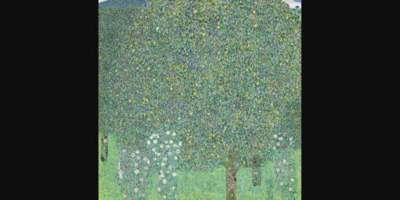Gustav Klimt, Rosebushes under the Trees, 1905