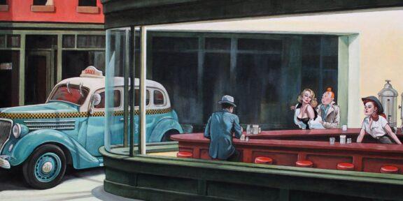 Hopper rivisitato da Marabout con Tintin