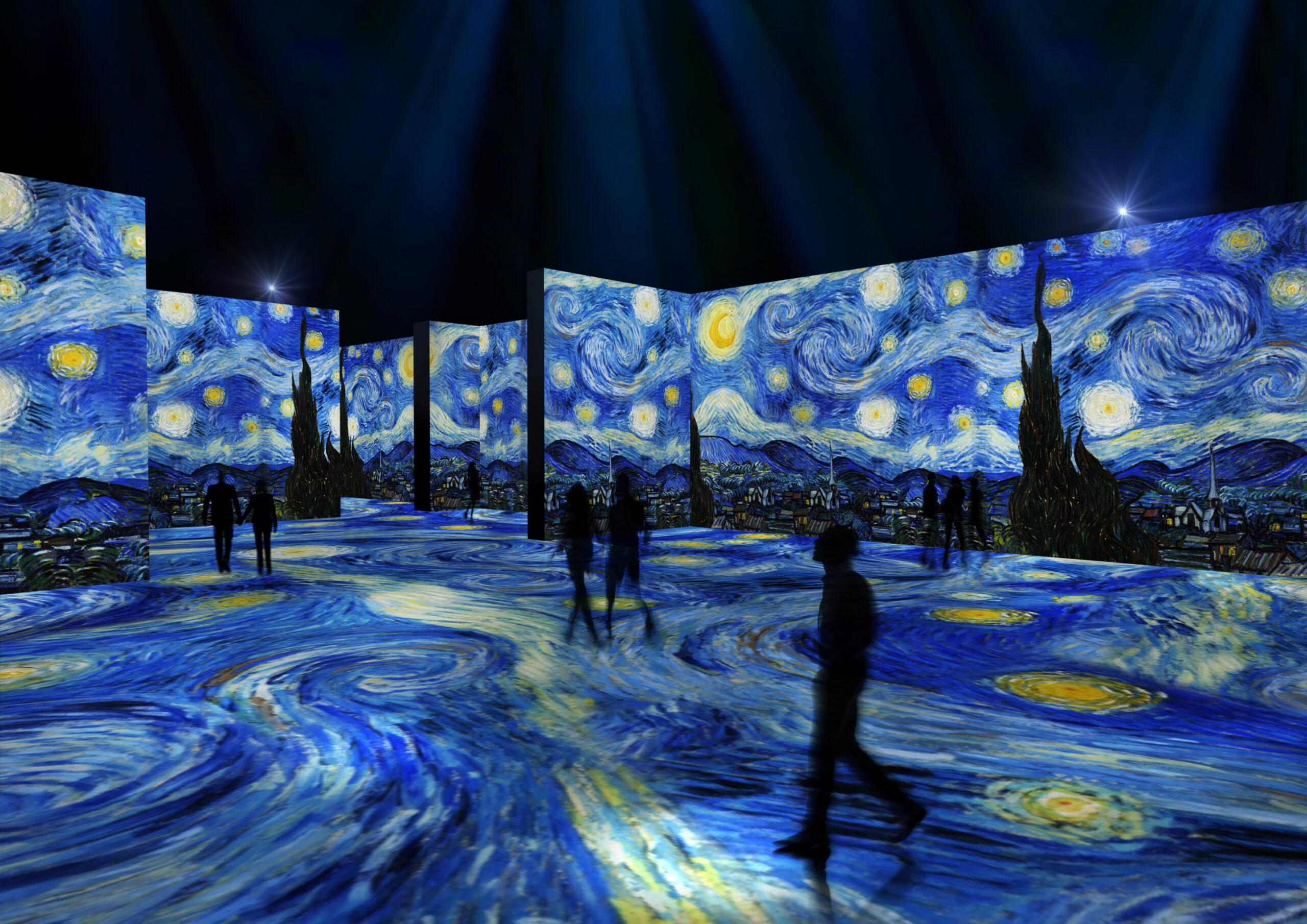 Van Gogh digitale a Londra: sdraiati sul pavimento immersi in una notte stellata