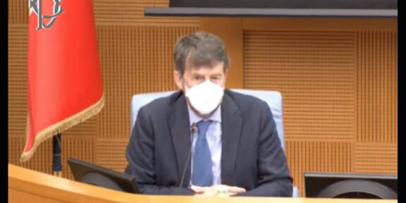Il Ministro della cultura, Dario Franceschini, nell'audizione davanti alle commissioni Cultura riunite di Camera e Senato