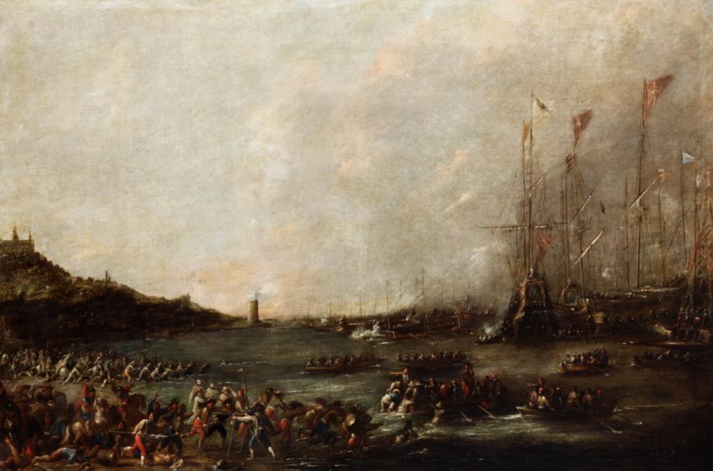 Cornelio De Wael (Anversa 1592 - Roma 1667) La ritirata delle truppe olio su tela, cm 110x160 Stima: 18.000 - 22.000 eur