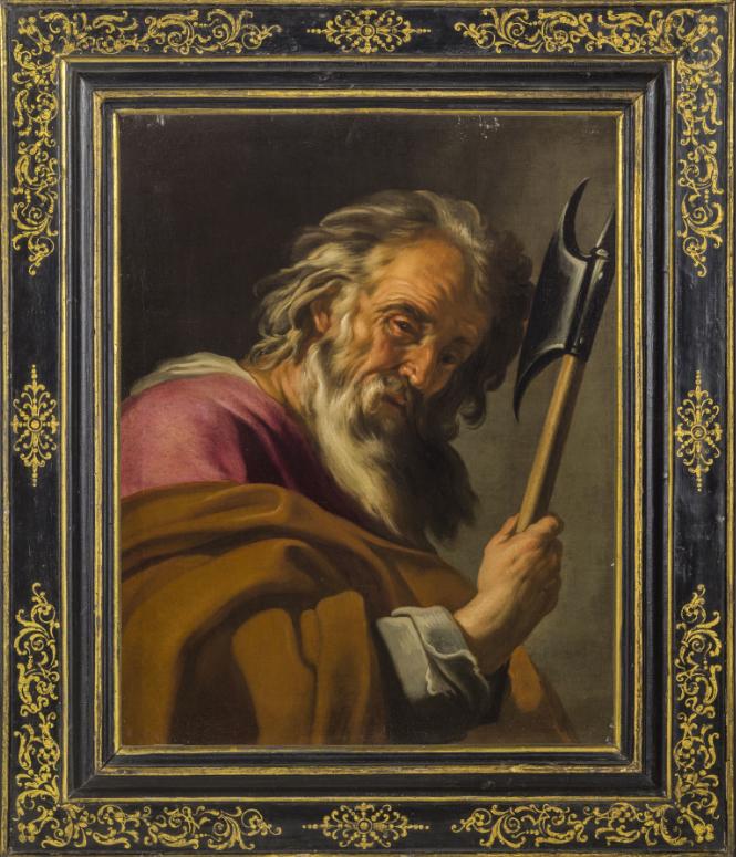 PITTORE CARAVAGGESCO ATTIVO A ROMA NEL XVII SECOLO, San Tommaso