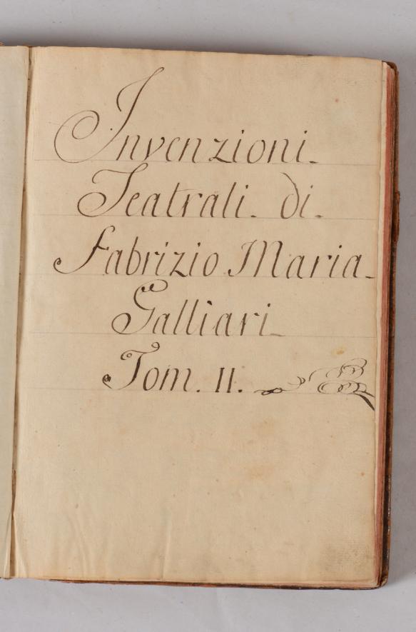 Bernardino Galliari (Andorno Micca 1707-1794) Invenzioni teatrali volume contenente studi per scenogra fi e, mm 280x200 Stima: 8.000 - 12.000 eur